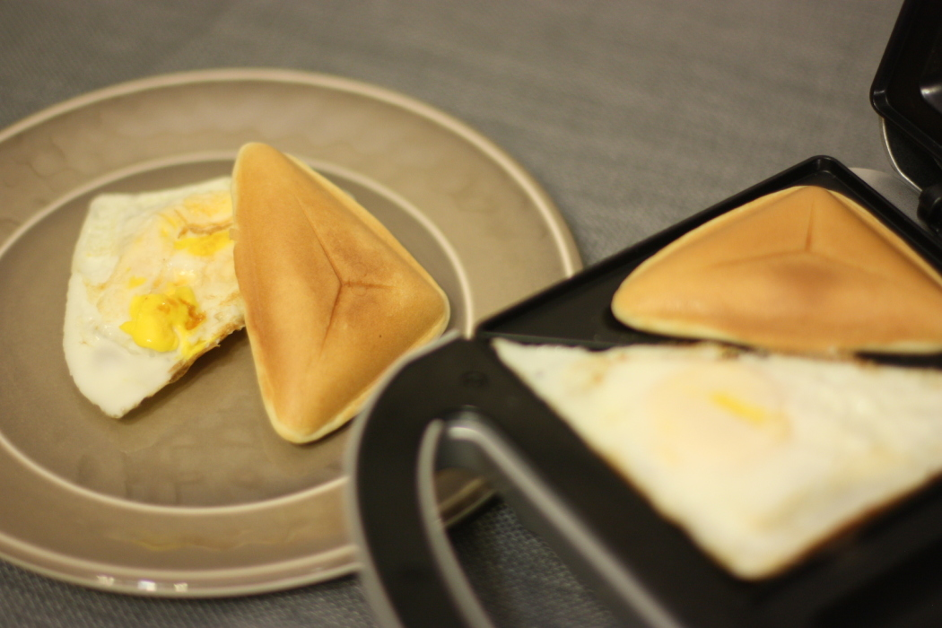 Fried Eggs And Pancake Pockets