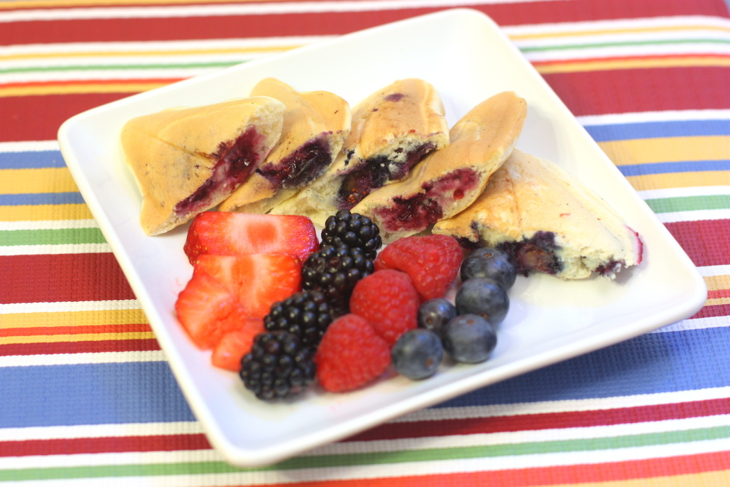 Raspberry Pancake Pockets