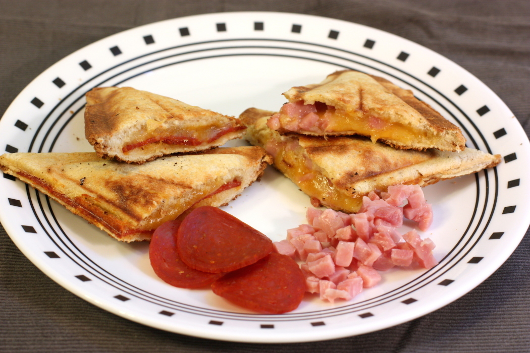 Classic Grilled Cheese With Turkey Pepperoni Sandwich