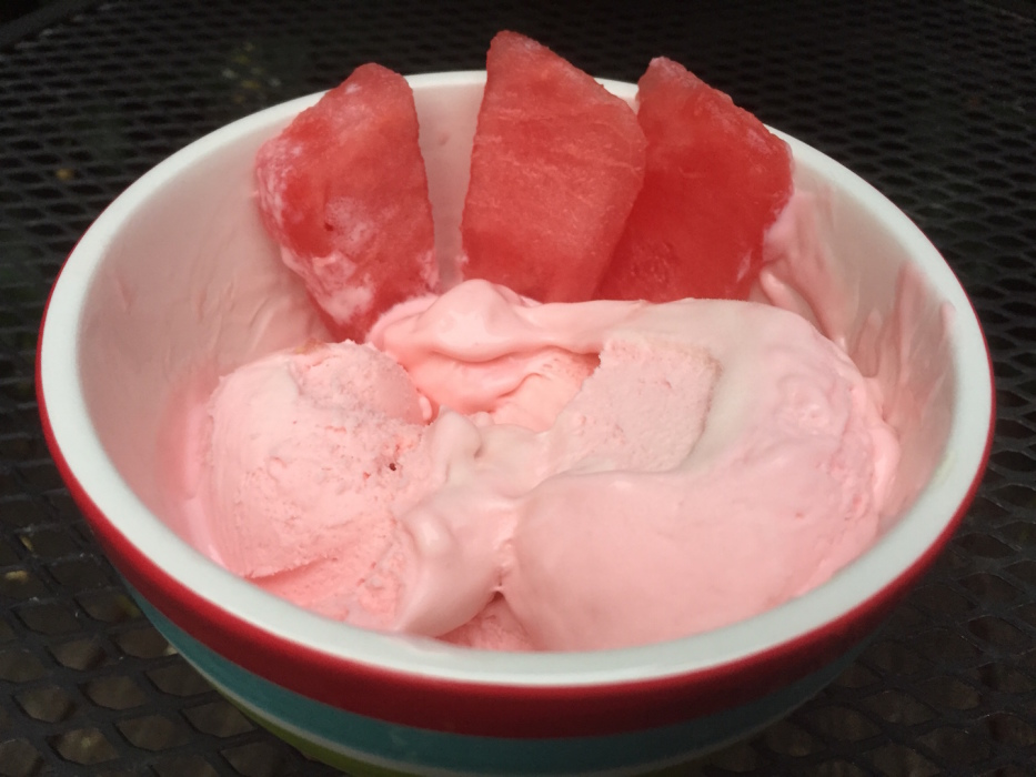 No Churn Strawberry Watermellon Ice Cream